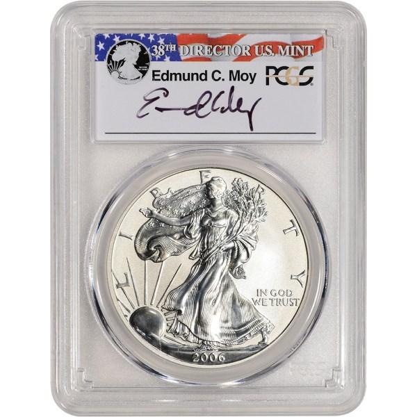 2006- American Silver Eagle Reverse Proof 1 - Pcgs Pr69