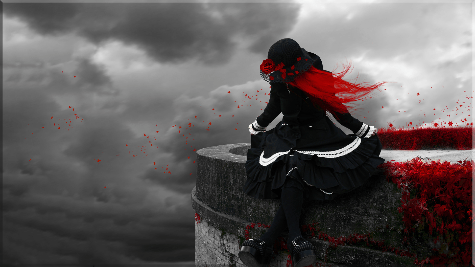 Goth Girl Wallpaper 1440x2960 Gothic Redhead Hd Wallpaper Background Image 1920x1080