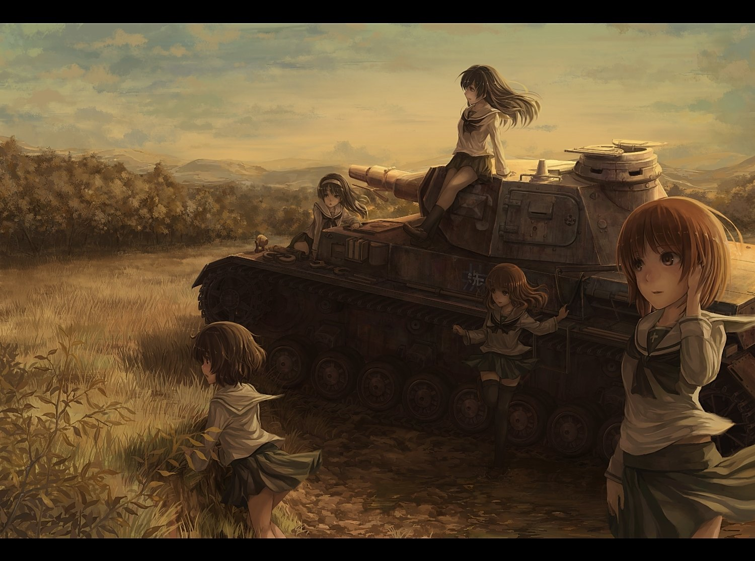 Moe Anime Girl Wallpaper Girls Und Panzer Wallpaper And Background Image