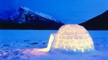 Igloo Night Vermillion Lakes Banff National Park