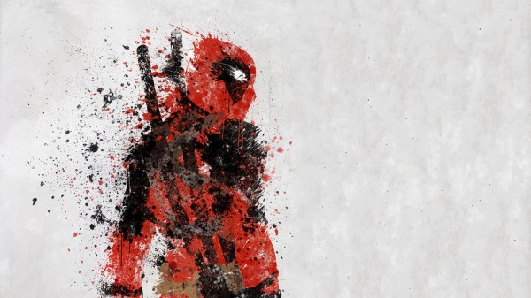 Deadpool Splatter Art