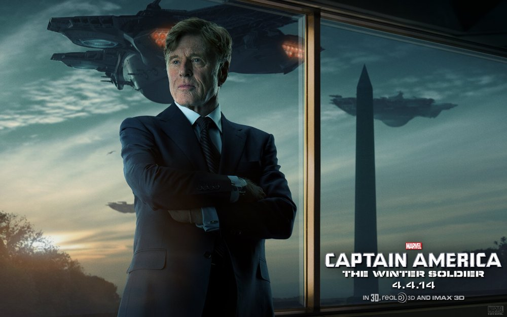 Image result for captain america the winter soldier robert redford