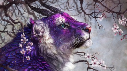tiger fantasy mystical animal wallpapers mythical purple animals cool cute cat lion creature background desktop beast creatures magical mystic pretty