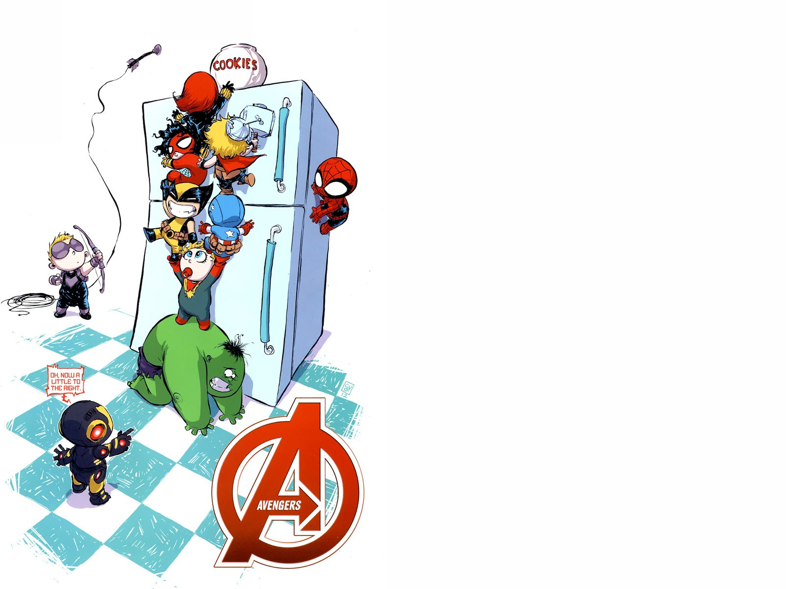 Avengerrs Wallpaper Cute Baby Avengers Cookie Time Wallpaper And Background