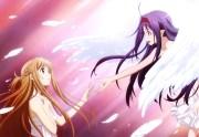 asuna and yuuki full hd fond 'cran