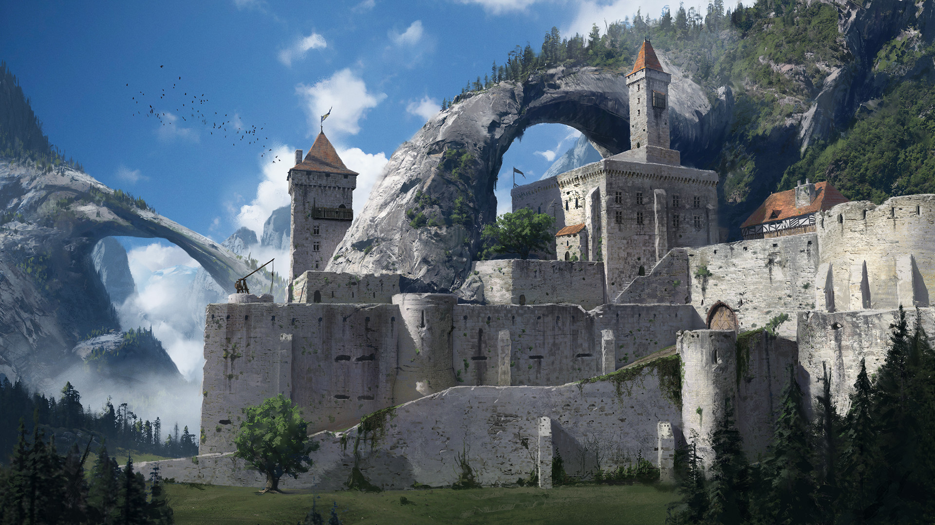 Fortress Of The Arch Hd Wallpaper Background Image