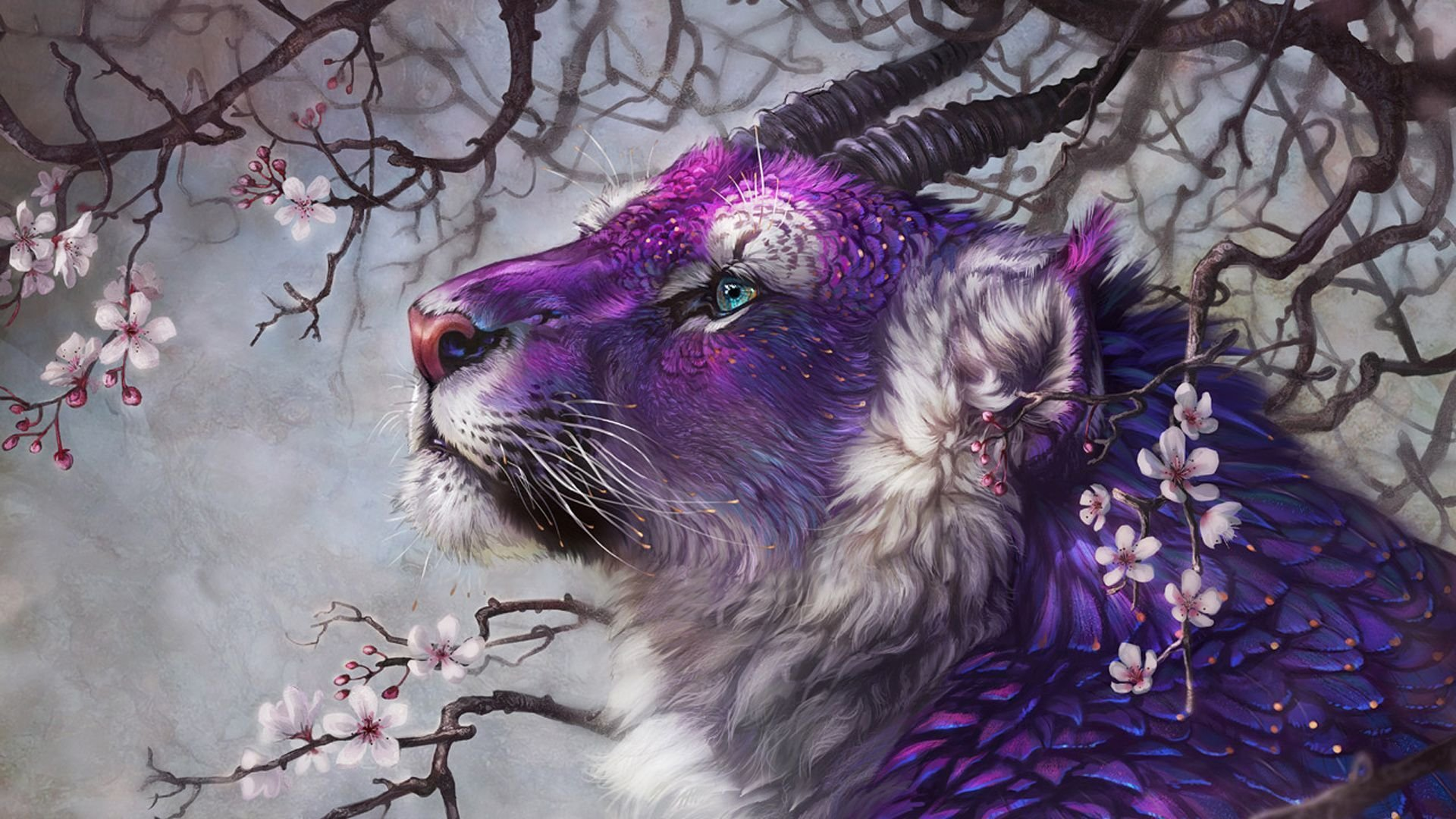 Mystical Creatures In The Fall Wallpaper Fantasy Big Cat Hd Wallpaper Background Image