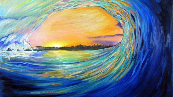 Artistic Ocean Wave Painting