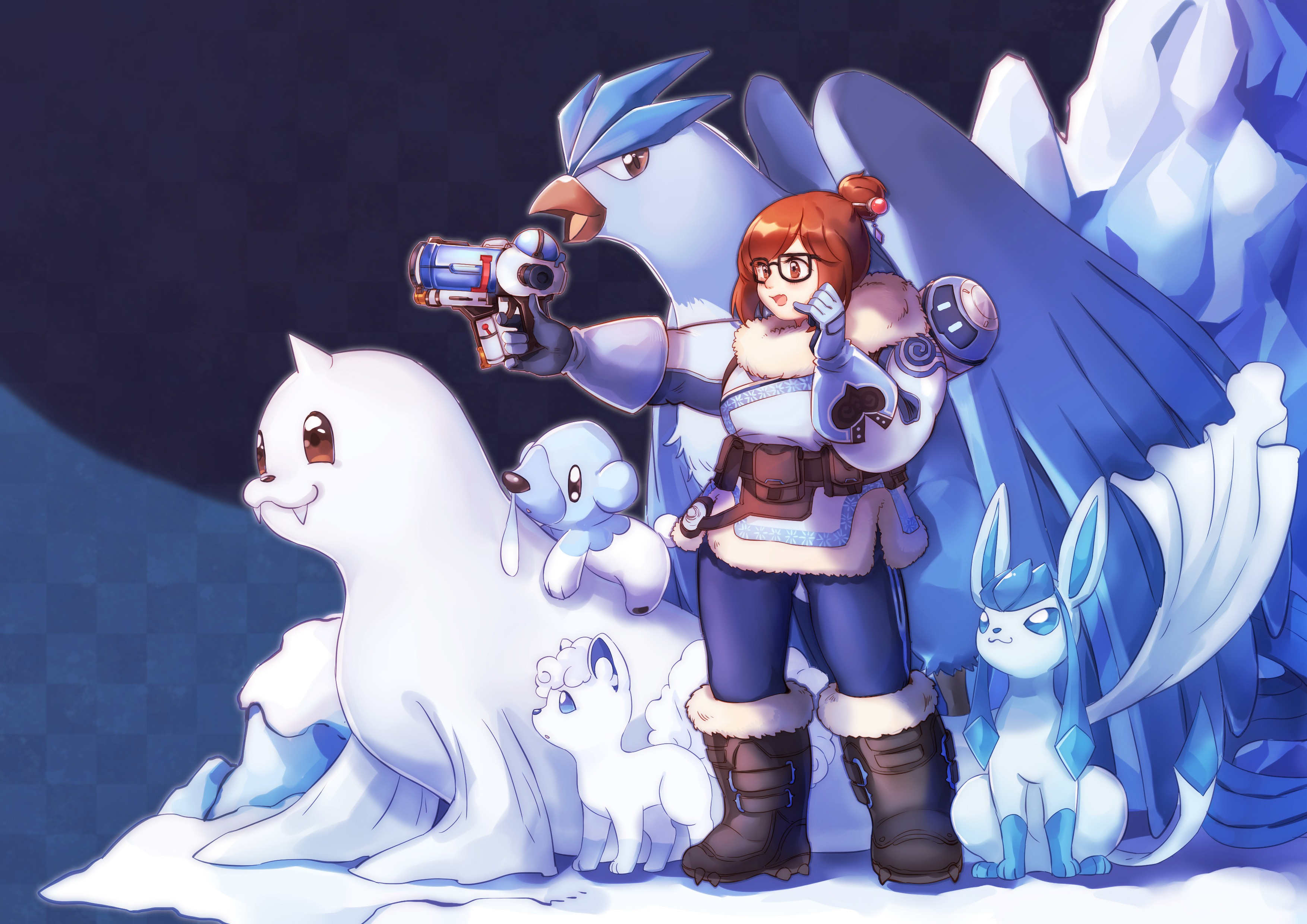 Cute Vulpix Pokemon Wallpaper Crossover Hd Wallpaper Background Image 3507x2480 Id