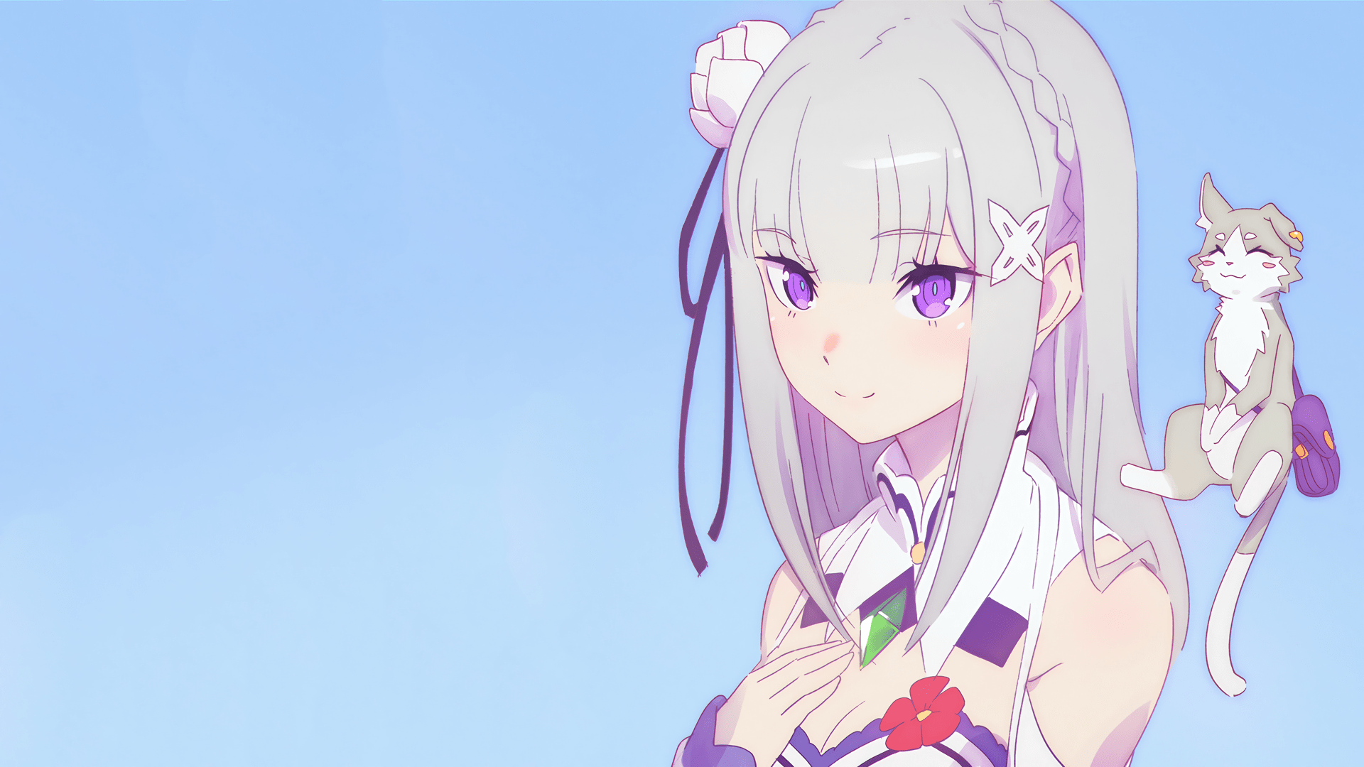 1920x1080p Wallpaper Girl 482 Emilia Re Zero Hd Wallpapers Backgrounds