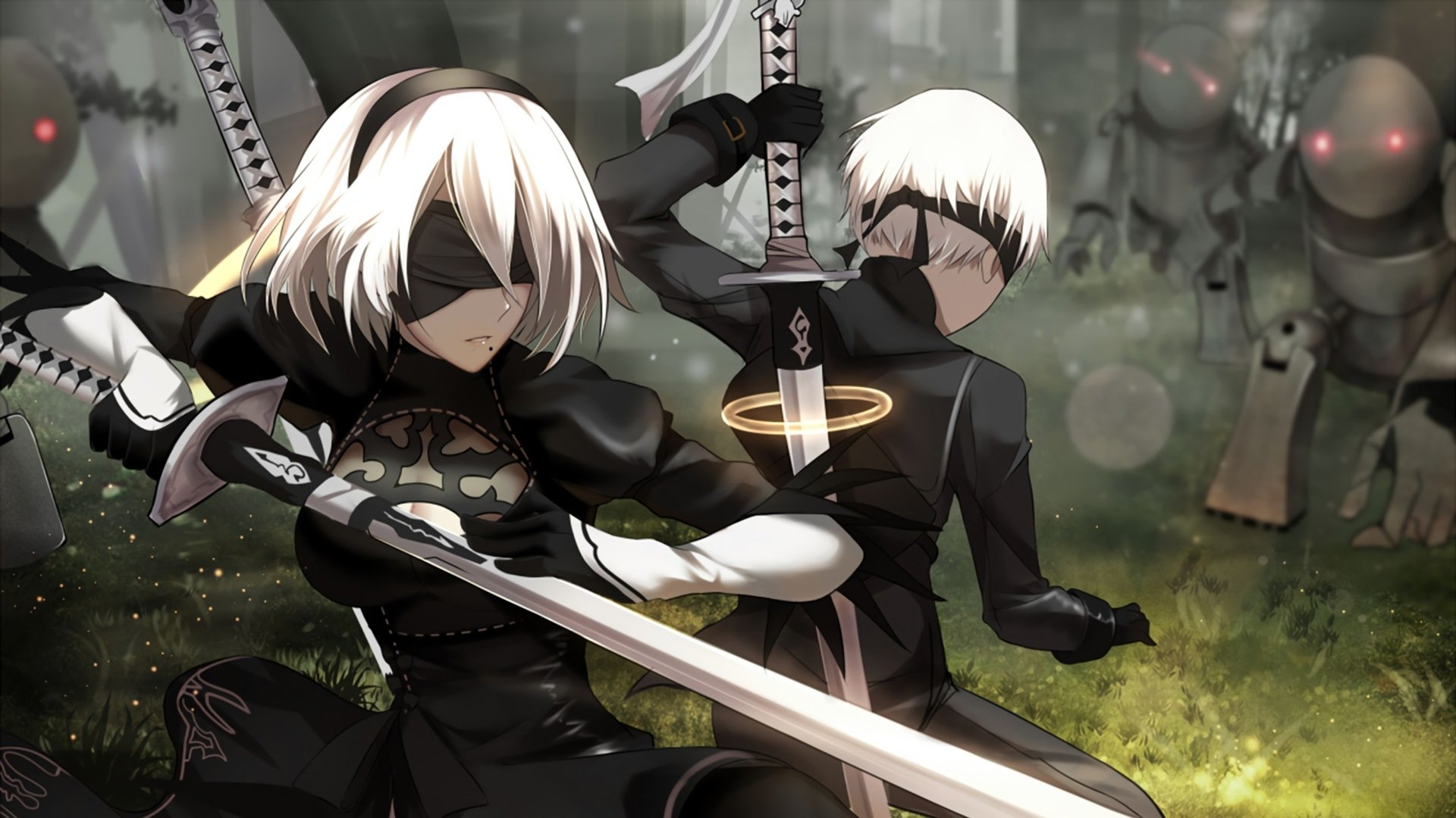 Crip Girl Wallpaper Nier Automata Hd Wallpaper Background Image 1920x1080