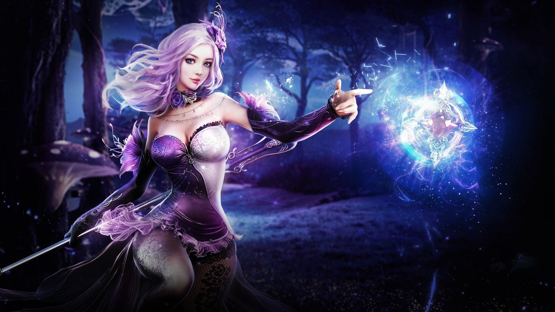 3d Hd Wallpapers Priestess Sorceress Hd Wallpaper Background Image 1920x1080 Id
