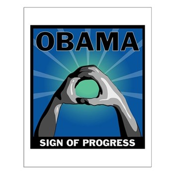 Obama Salute Small Poster