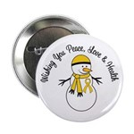 "Christmas Snowman Gold Ribbon 2.25"" Button (10 pac"