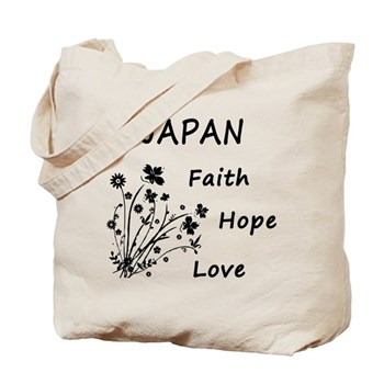 Japan Faith and Hope Tote Bag