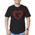 PIECE OF MY HEART Men's Fitted T-Shirt (dark)