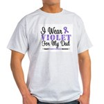 I Wear Violet For My Dad Light T-Shirt