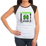 Lymphoma Month Butterfly Women's Cap Sleeve T-Shir
