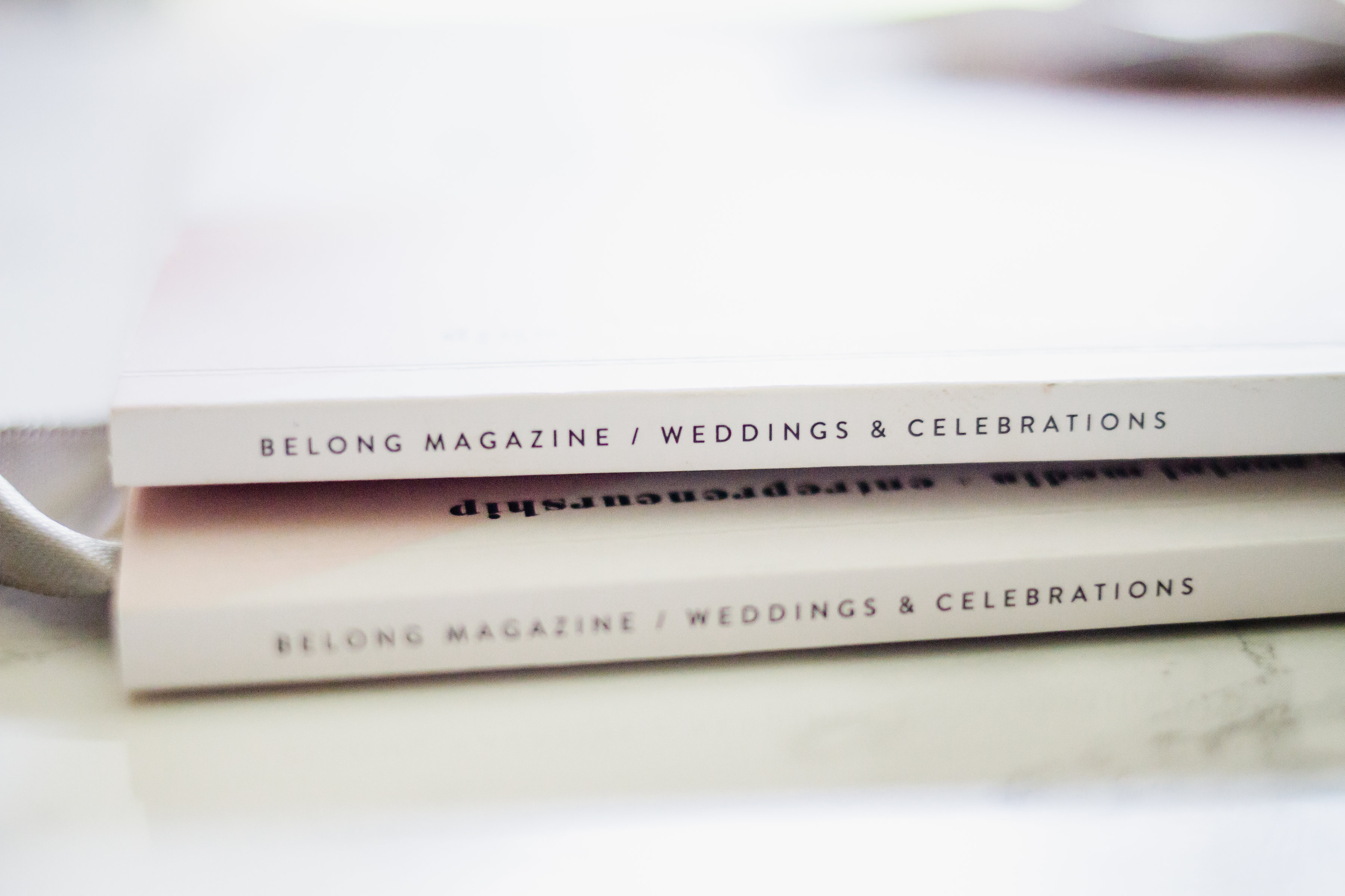 two wedding magazine spines