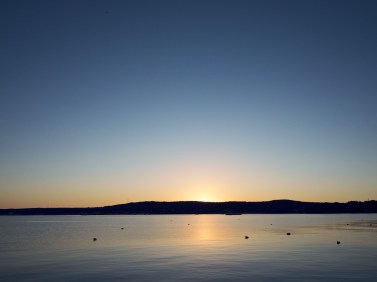 Sunset In Rockland Harbor From Breakwater