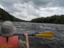 David, Delaware Water Gap, kayak, white water, clouds