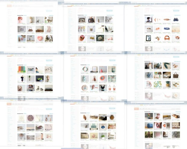 Etsy front page pastel colors