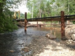 Whippany River road work, bridge, construction site