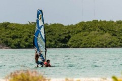 bonaire, kids, windsurfing