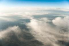 clouds, plane