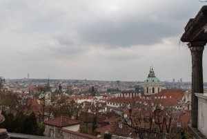 view, prague, old town, Castle