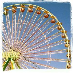 Ferrys wheel, merry go round