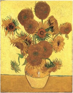 Still Life Vase with 15 Sunflowers by Vincent Van Gogh