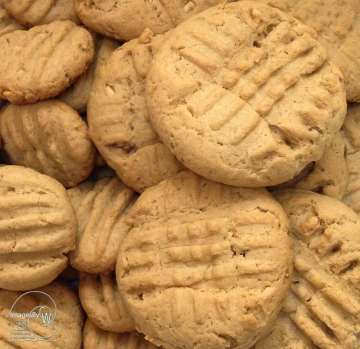 peanut butter cookies, recipe, photo