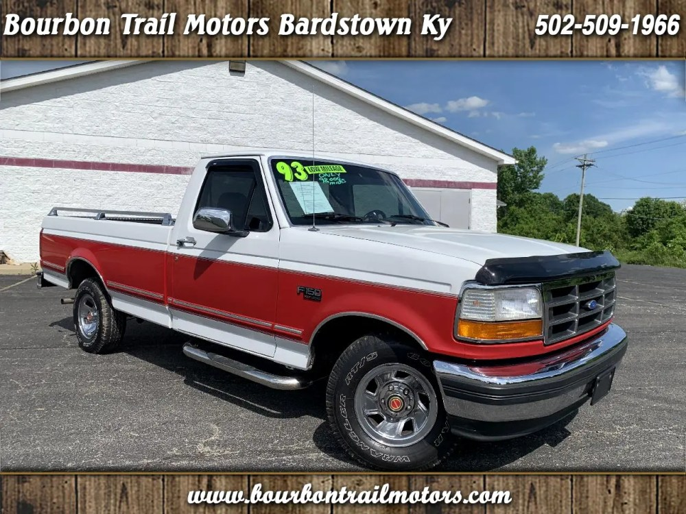 medium resolution of 1993 ford f 150 2wd reg cab 145 xlt