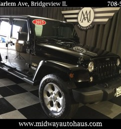 pre owned 2015 jeep wrangler unlimited 4wd 4dr sahara [ 1280 x 960 Pixel ]