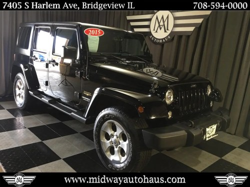 small resolution of pre owned 2015 jeep wrangler unlimited 4wd 4dr sahara