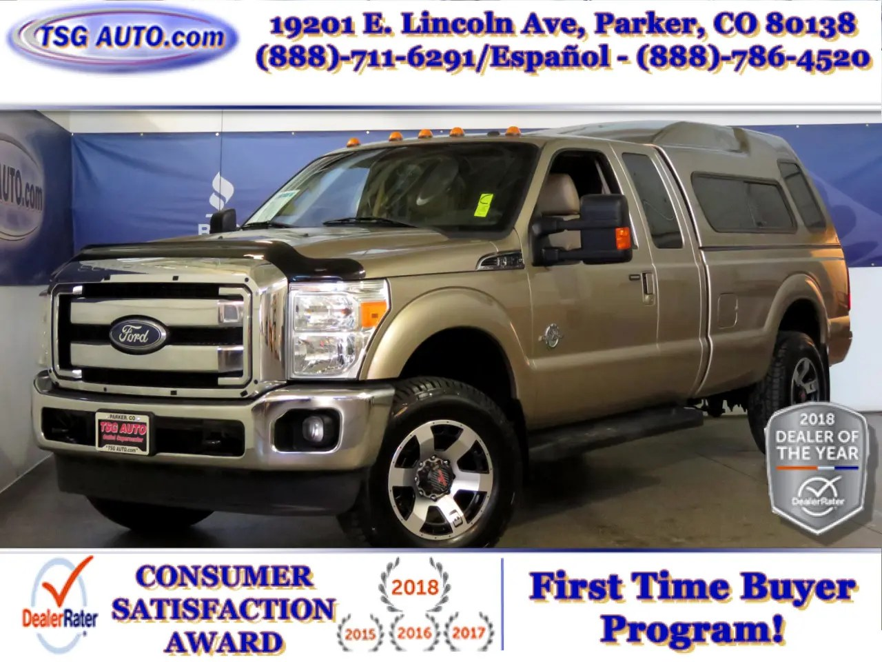 hight resolution of 2011 ford super duty f 250 srw lariat super cab 6 7l v8 4wd w topper