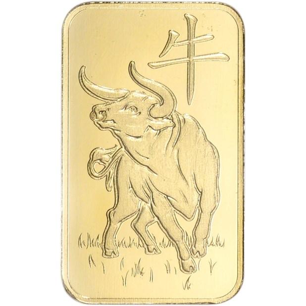 5 gram Gold Bar - Argor Heraeus 2021 Lunar Year of the Ox ...
