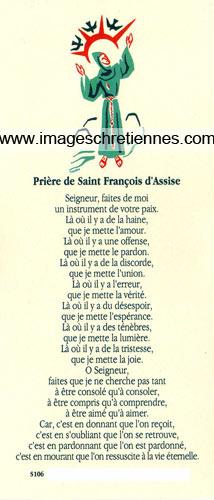 Prière De Saint François D Assise : prière, saint, françois, assise, Signet, Prière, Saint, François, D'Assise