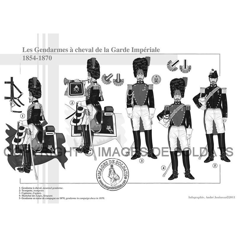 Les Gendarmes à cheval de la Garde Impériale, 1854-1870