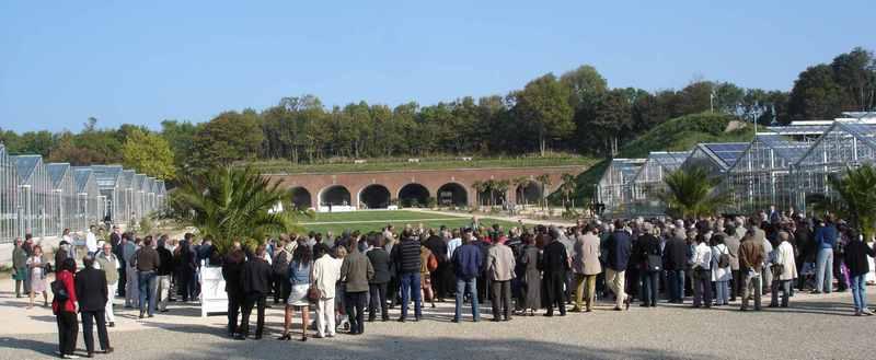 Jardins suspendus du havre fort de sainte adresse groupe devant les serres et les arcadres - Les jardins suspendus le havre ...