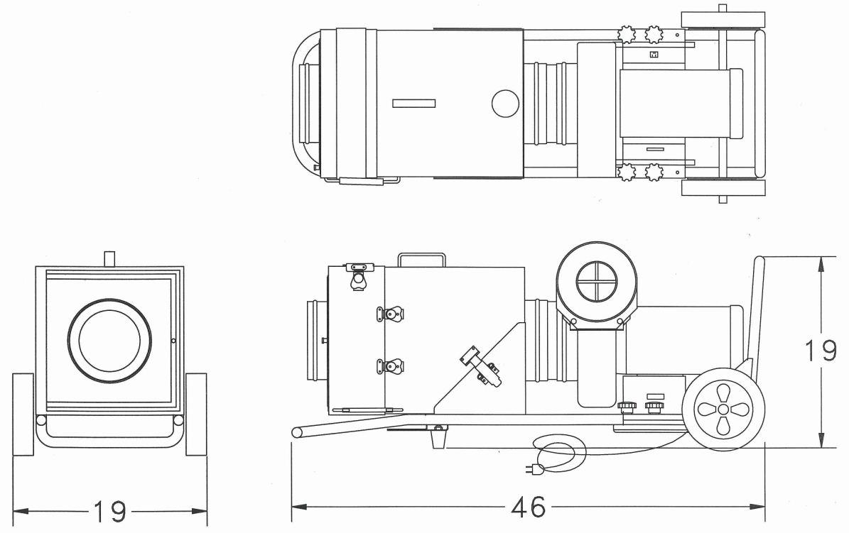 MAC 21 FM37 500 CFM Portable HEPA Filtration Unit- CSA