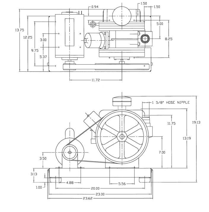 Welch Gardner Denver DuoSeal 1374B Rotary Vane Vacuum Pump