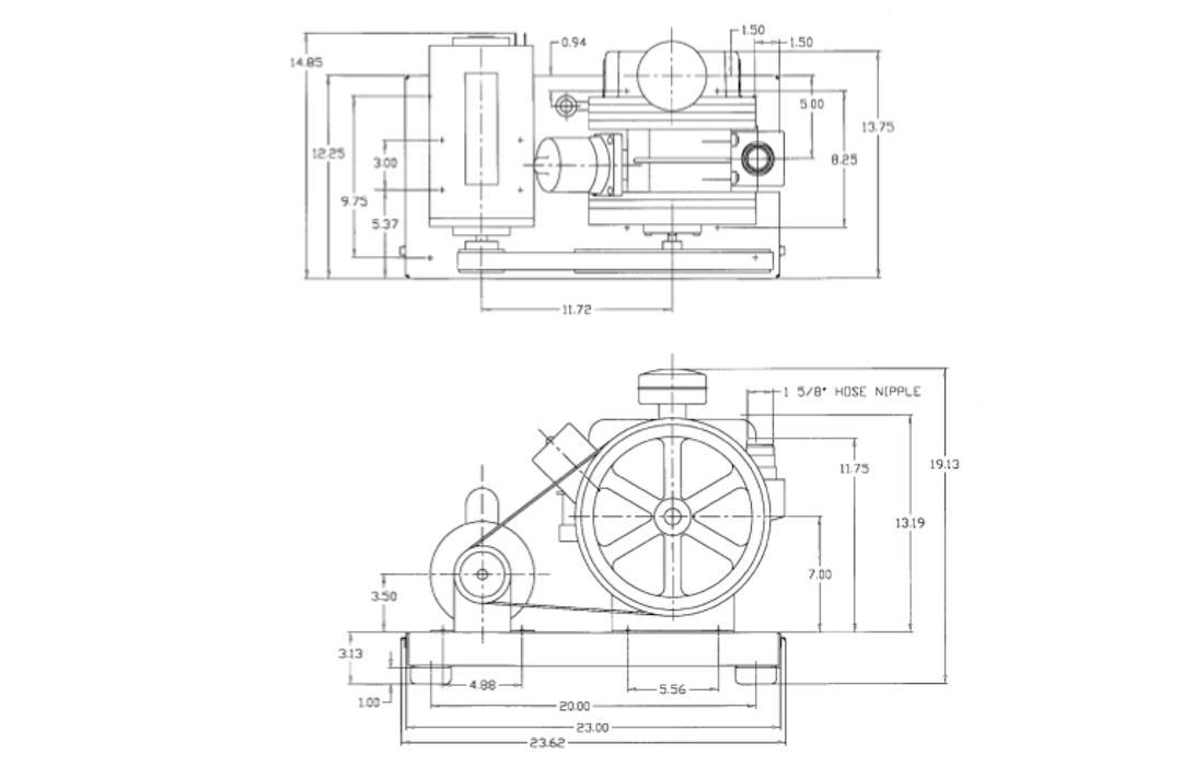 Welch Gardner Denver DuoSeal 1397B Rotary Vane Vacuum Pump