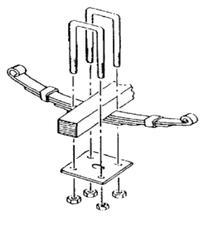 trailer axle suspension parts, trailer u-bolt tie plate
