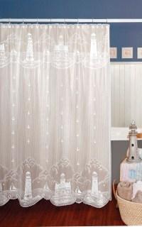 Lighthouse Curtain: Shower Curtain