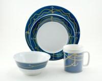 Coastal Melamine Dinnerware | Nautical non-skid Melamine