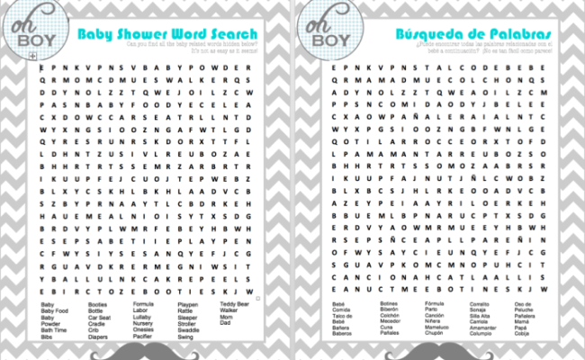 Bilingual English Spanish Baby Shower Games Babycenter