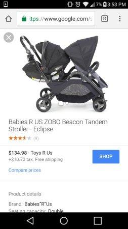 Babies R Us Zobo Double Stroller : babies, double, stroller, Double, Stroller, Cheap, Online