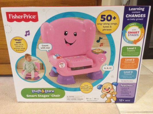 fisher price laugh and learn chair pink lounge patio chairs for sale in melbourne